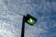Svart gatalampa Fotografering för Bildbyråer