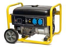 svart generator isolerad vit yellow för ström Arkivfoton