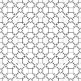 Svart geometrisk prydnad på vit bakgrund seamless modell Arkivbild