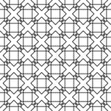 Svart geometrisk prydnad på vit bakgrund seamless modell vektor illustrationer