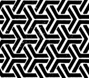 Svart geometriska seamless mönstrar Royaltyfri Bild