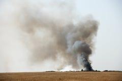 Svart giftlig rök Arkivbilder