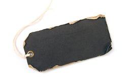 svart grungeetikett Fotografering för Bildbyråer