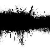 svart grungeremsa Arkivbild
