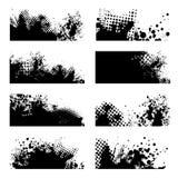 svart grungesplat Arkivfoton