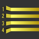 Svart gul designmall royaltyfri illustrationer