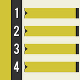 Svart gula den retro designmallen utformar vektor illustrationer