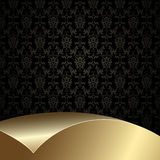 svart guld för bakgrund Arkivfoton