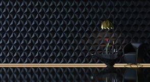 Svart & guld- livingroom Arkivfoton