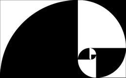 svart guld- spiral Arkivbild