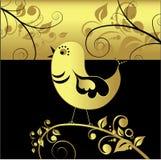 svart guldvektor för fågel Arkivbild