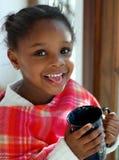 svart gullig flicka Royaltyfria Foton