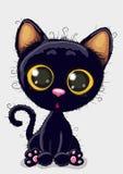 svart gullig kattunge Fotografering för Bildbyråer