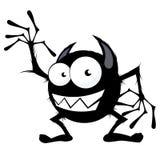 svart gulligt monster Arkivfoton