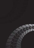 Svart gummihjulspårbakgrund Royaltyfri Foto