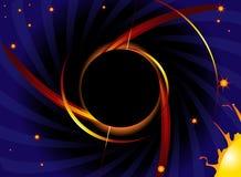 svart hål Arkivfoto