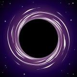 svart hål för bakgrund Arkivbild