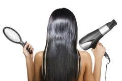 svart hår Arkivfoto
