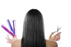 svart hår royaltyfri fotografi