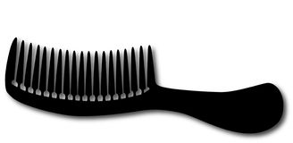 svart hårkam Arkivfoton