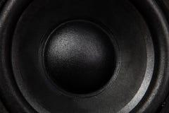svart högtalare Arkivbild