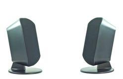 svart högtalare två royaltyfri foto