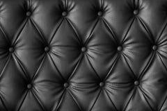 Svart högvärdig läderbakgrund Fotografering för Bildbyråer