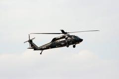 Svart hök för helikopter Royaltyfria Foton