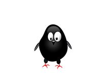 svart höna stock illustrationer