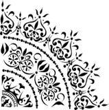 svart hörngarneringgray Arkivfoto