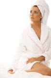 svart haired för skönhet Fotografering för Bildbyråer
