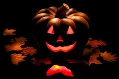 svart halloween pumpa Arkivfoto