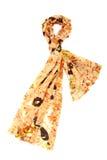 Svart halsduk med blom- design Arkivbilder