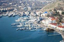svart hamnhav Arkivfoto