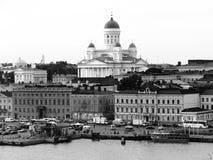 svart hamnhelsinki white Arkivbild