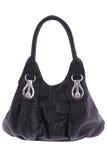 svart handväska Royaltyfri Fotografi