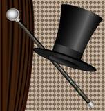 svart hatt Arkivbilder