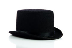 Svart hatt som isoleras på vit bakgrund Royaltyfri Foto
