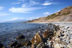 svart hav ukraine för kustcrimea berg Arkivbilder