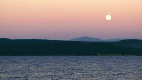 svart hav ukraine för kustcrimea moon arkivfilmer