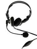 svart headphone royaltyfri bild