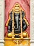 Svart hinduisk elefant Ganesha Arkivbild