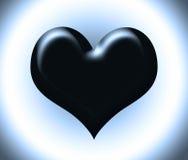 svart hjärta Arkivfoto