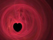 svart hjärta lines red Arkivfoto