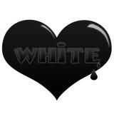 svart hjärtasoulwhite Royaltyfria Foton