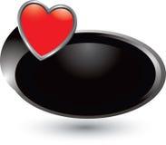 svart hjärtasymbolsswoosh royaltyfri illustrationer