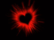 svart hjärtavalentin Arkivbilder
