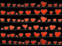 svart hjärtavektor royaltyfri foto