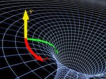 svart hål Arkivbild