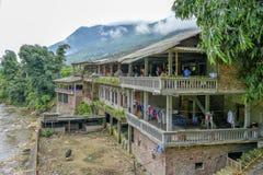 Svart Hmong restaurang, Sa-PA, Vietnam Arkivfoton